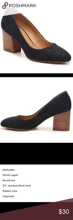 🆕 Franco Sarto pumps Adorable Navy pumps with a denim look. 2 3/4 heel with rubber soles. Never been worn. Franco Sarto Shoes Heels