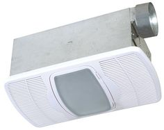 Buy the Air King White Direct. Shop for the Air King White 70 CFM HVI Certified Sone Exhaust Fan with Integrated Heater and Fluorescent Light from the Combination Heater Collection and save. Bathroom Exhaust Fan, Bathroom Fixtures, Bathroom Fans, Bathroom Heater, Bathroom Modern, Bathroom Ideas, Light Bulb Wattage, Thing 1, Overhead Lighting