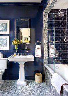 Benjamin Moore Deep Royal Bathroom Interior Design