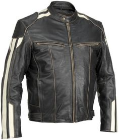 River Road Roadster Classic Street Riding Leather Motorcycle Jacket