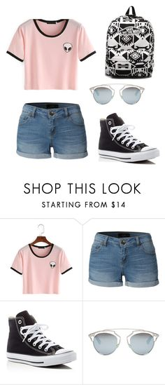 """Untitled #41"" by izzy31704 on Polyvore featuring LE3NO, Converse, Christian Dior and Vans"