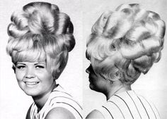 Column of Curls Bouffant - it's as if a cloud formation landed on her head :)