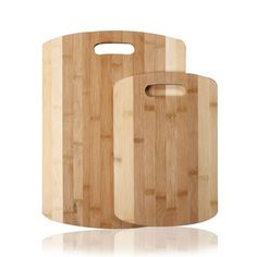 Furnistar 100% Natural Bamboo Chopping Cutting Board with Contrasting Strips and Handles