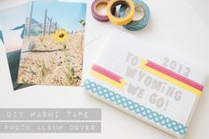 Easy DIY Washi Tape Photo Album Cover  l  Our Sweet Somewhere