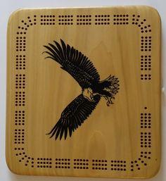 eagle logo, wooden cribbage board , great personalized gift idea - https://www.etsy.com/listing/264402267/eagle-logo-wooden-cribbage-board-custom?utm_source=socialpilotco&utm_medium=api&utm_campaign=api #cribbageboard #cribbage