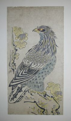 Eagle Paulownia Tree by Kiyomasu Old Japanese Art Print Woodblock Woodcut | eBay