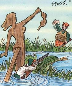 Hilarious selection of very funny drawings Take a look. Hilarious selection of very funny drawings Bizarro Comic, Hunting Humor, Duck Hunting, Funny Hunting, Funny Cartoons, Funny Jokes, Cartoon Humor, Hilarious Sayings, Funny Sarcastic
