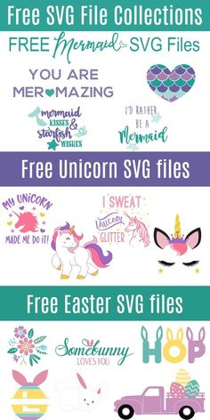 Free SVG Cut File Collections - Cricut T Shirts - Ideas of Cricut T Shirts - I cannot believe these are all free amazing. I got mermaid SVG files (and fonts) and even unicorns. Love this site its perfect for handmade holiday ideas. Cricut Vinyl, Cricut Craft, Cricut Air, Free Svg Cut Files, Svg Files For Scan And Cut, Cricut Tutorials, Cricut Creations, Svg Cuts, Cricut Design