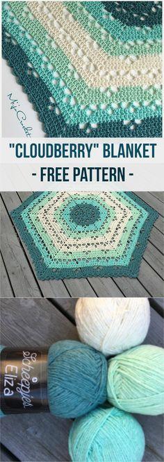 Cloudberry Blanket Free Pattern