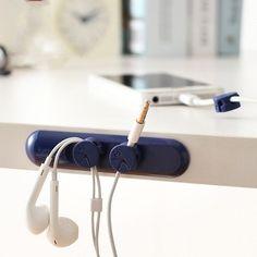Magnetic Cable Clip Organizer Wire Cord Management Desktop Winder Line Holder TT