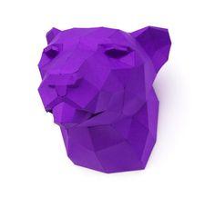 Artist Designs DIY Paper Templates for Adorable 3D Geometric Animals - My Modern Met ✿