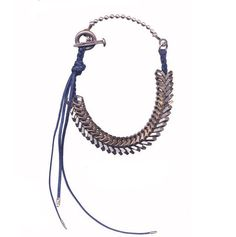 Giles + Brother {braided navy wax cotton hex nut necklace}