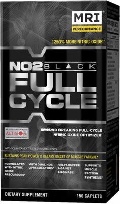 MRI NO2 Black Full Cycle  150 Caplets MRI1480162  - Formulated With Nitric Oxide Precursors!*