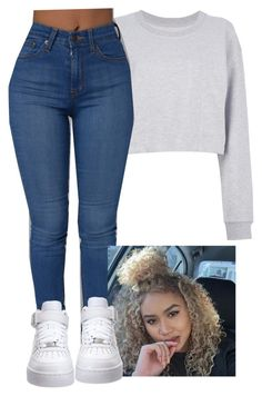 """""""School-Asia"""" by desirayebae ❤ liked on Polyvore featuring Maison Margiela and NIKE"""