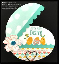 Best 'Easter' Ever hinged egg card featuring For Peep's Sake Stamp Set and the Best Year Ever Designer Series Paper (FREE with a qualifying Sale-a-Bration order. Ann's PaperWorks #Ann Lewis #Stampin' Up!
