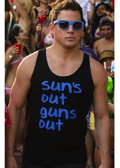 Channing Tatum 'Sun's out Gun's Out' Tank Top