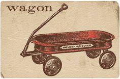 little vintage wagon flashcard + free vintage wagon downloads