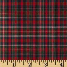 Imperial Tartan Plaids Shirting MacNab from @fabricdotcom  This yarn dyed plaid shirting fabric is very lightweight and soft. It is perfect for shirts, blouses or layered skirts and dresses. Colors include blue, red, green and yellow. Remember to allow extra yardage for pattern matching.