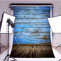 Fotografické pozadí - modrá zeď - 2,1 x 1,5 m