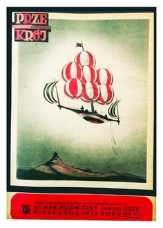 Cover of Przekrój magazine. Issue dated April 10,1949.