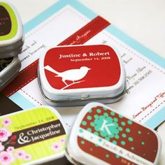 Personalized Wedding Mint Tins - for welcome bags