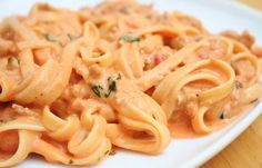 Tomato cream sauce.