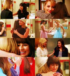 Quinn & Rachel; from bitter rivals over Glee songs and Finn Hudson to Glee Divas and kinda bff's.  Season 3 scenes