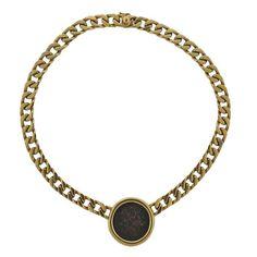 Bulgari Monete Hadrian as Roman Empire Ancient Coin Gold Necklace
