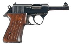 This is the only known prototype Walther 9mm Ultra pistol. It and its cartridges were developed by Walther for the Luftwaffe. The intent was to design a pistol that retained the compact size of the PP-PPK design but employing a cartridge intermediate in power between the 9mm Kurz and the 9mm Parabellum. Approximately 25,000 rounds of the unique 9mm Ultra ammunition were manufactured by Gustav Genschow & Co. in the early 1940s, with most of it either used during testing or destroyed.