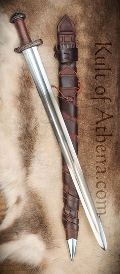 Darksword Oslo Viking Sword - Brown with Integrated Sword Belt