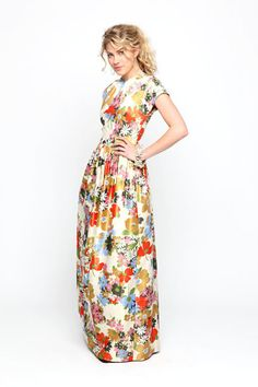 Jules Reid, McPherson Floral Gown. One day.