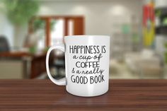 Looking for gift ideas for bookworms? This mug for coffee-and-book lovers might do the trick!