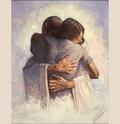 """The Embrace (""""The Embrace"""") by Chris Hopkins   Christian Art - Christian Framed Prints   Tapestry Productions"""