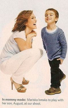 Mariska Hargitay and son August...love these two!