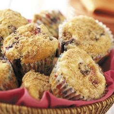 Berry Cheesecake Muffins Recipe from Taste of Home -- shared by Jeanne Bilhimer of Midland, Michigan
