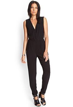 Pleated Surplice Jumpsuit | FOREVER21 - 2000059781 So chic! #SummerForever #F21xMe
