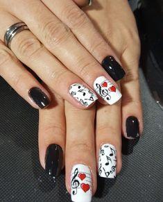 Music Note Nails, Music Nail Art, Music Nails, Owl Nail Designs, Shellac Nail Designs, Elegant Nail Designs, Owl Nails, Minion Nails, Owl Nail Art