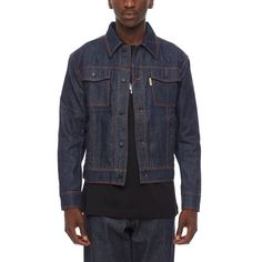 7859c376d323b8 Denim jacket from the F W2016-17 Gosha Rubchinskiy collection in brut washed