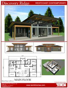 Discovery Ridge #contemporary #modern #houseplan #timberframe
