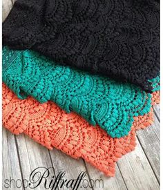 Crochet shorts in all colors from ShopRiffraff!