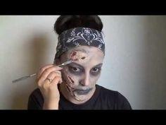 Easy Zombie Makeup - YouTube