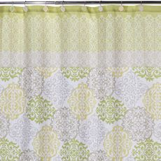 Gray and beige but also green and blue to brighten up the bathroom $30 BBB