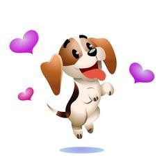 I am not a Beagle i am a baby DAD said Kiss Animated Gif, Hug Gif, Cartoon Dog, Cute Cartoon, Good Morning Hug, Emoticon Faces, Animated Emoticons, Cute Beagles, Emoji Images