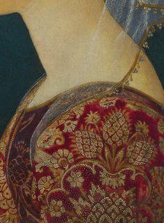 Portrait de femme en rouge (Détail)  Artiste Florentine inconnue - 1460