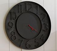 modern black metal wall clock | Pottery Barn