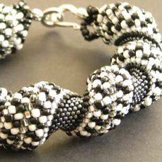 Cellini Spiral Beaded Bracelet (checkers)  https://www.etsy.com/listing/84701874/cellini-spiral-beaded-bracelet-checkers