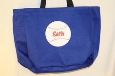 Custom Embroidered and Applique Baseball Tote bag by Sweetthangs31, $13.00