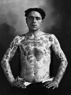 From the book MAUVAIS GARÇONS : PORTRAITS DE TATOUÉS (1890-1930)