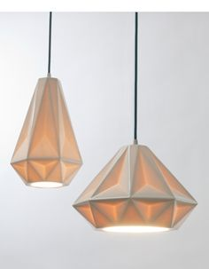 Aspect Pendant Lamps, modern pendant lamps in translucent porcelain (it'd be fun to draw sharpie designs on these, too)
