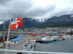 Ushuaia, Argentina - City at the End of the World: Ushuaia Cruise Ship Pier - End of the World Ushuaia, Cruise Port, Antarctica, End Of The World, South America, Photo Galleries, Ship, City, Travel